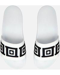 Versace - Baroque Slider Sandals - Lyst