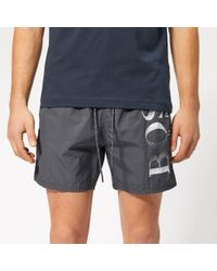 273cfd097b BOSS Octopus Swim Shorts Swimwear 100% Polyamide in Gray for Men - Lyst