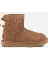 UGG - Dae Sunshine Perf Suede Sheepskin Boots - Lyst