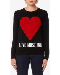 Love Moschino - Heart Logo Jumper - Lyst