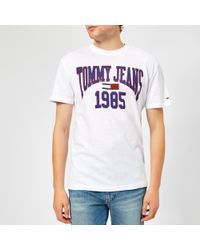 fb3537a5 Tommy Hilfiger Tjm Small Text Tee in Yellow for Men - Lyst