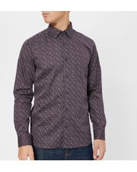 Ted Baker - Thornto Floral Print Long Sleeve Shirt - Lyst