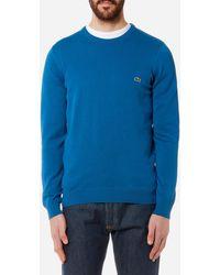 Lacoste - Men's Basic Crew Knitted Jumper - Lyst