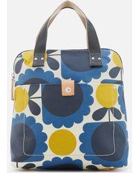 Orla Kiely - Matt Laminated Scallop Flower Small Backpack Tote - Lyst
