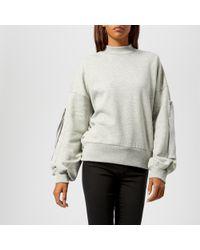 Gestuz - Galica Pullover Sweatshirt With Sleeve And Stud Detail - Lyst