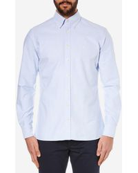 Hackett - Slim Washed Oxford Long Sleeve Shirt - Lyst