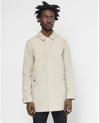 The Idle Man - Bonded Cotton Mac Stone - Lyst