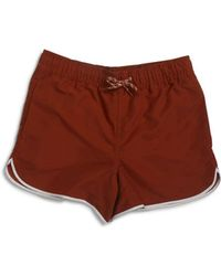 The Idle Man - Swim Shorts Brown - Lyst
