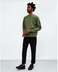 The Idle Man - Classic Sweatshirt Green - Lyst