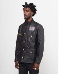 Barbour - Union Jack Motorcycle Jacket Black - Lyst