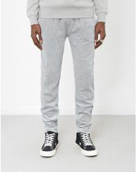 The Idle Man - Velour Joggers Grey - Lyst