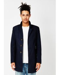 Only & Sons - Lorenz Trench Coat Blue - Lyst