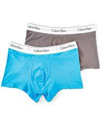 CALVIN KLEIN 205W39NYC - Modern Cotton Stretch 2 Pack Trunk Blue & Grey - Lyst