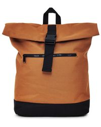 The Idle Man - Roll Top Backpack Tan - Lyst