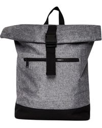 The Idle Man - Roll Top Backpack Grey - Lyst