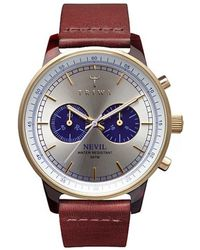 Triwa - Nevil Cognac Classic Blue Face Watch - Lyst