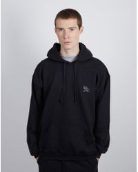 The Idle Man - Born Idle Chest Signature Black Hoodie (white Signature) - Lyst