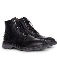 Hudson   Wycombe Calf Boot Black   Lyst