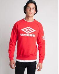 Umbro - Classic Crew Sweatshirt Red - Lyst