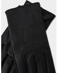 The Idle Man - Faux Leather Gloves Black - Lyst