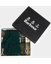 Barbour - Scarf Glove Gift Set Ancient Grey - Lyst