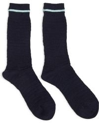 Anonymous Ism - Heavy Thurmal Crew Socks Navy With Blue Stripe - Navy - Lyst