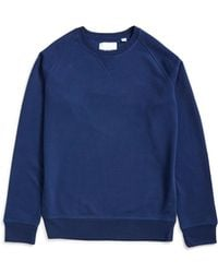 The Idle Man - Organic Raglan Sweatshirt Navy - Lyst