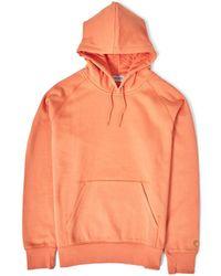 Carhartt WIP - Hooded Chase Sweatshirt Orange - Lyst