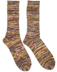 Anonymous Ism - 5 Colour Mix Crew Socks Green - Green - Lyst