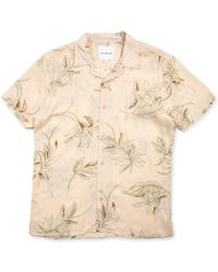 The Idle Man - Floral Viscose Shirt Pink - Lyst