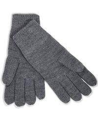 The Idle Man - Knitted Gloves Grey - Grey - Lyst
