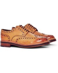 GRENSON | Archie Leather Brogue Tan | Lyst