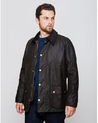 Barbour - Ashby Waxed Field Jacket Green - Lyst