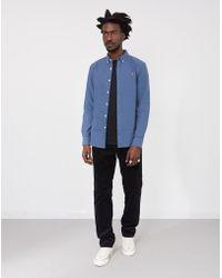 Farah - Brewer Oxford Slim Long Sleeve Shirt Blue - Lyst