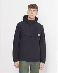 Carhartt WIP - Fleece Lined Nimbus Hooded Pullover Jacket Black - Lyst