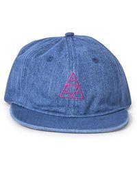 Huf - Formless Denim Triple Triangle Hat Blue - Lyst