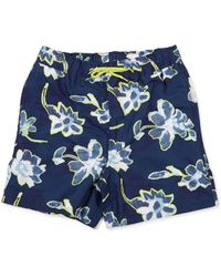 The Idle Man - Floral Print Swimshort Navy - Lyst