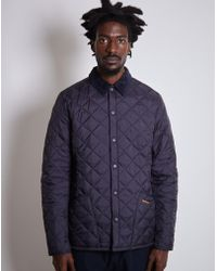 Barbour - Heritage Liddesdale Quilted Jacket Navy - Lyst