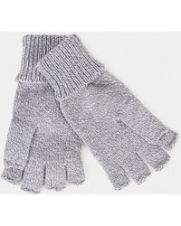 The Idle Man - Flip Top Gloves Grey - Lyst