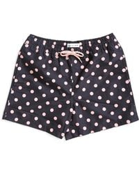 The Idle Man - Polka Dot Swim Shorts Black - Lyst