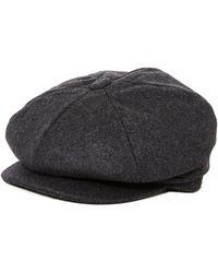 The Idle Man - Wool Blend Baker Boy Hat Grey - Lyst