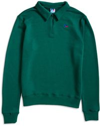 Russell Athletic - Comets Half Zip Sweater Green - Lyst