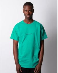 dfe6b2d4a4 The Idle Man - Sunday Club Slow Times Embroidered Tshirt Turquoise - Lyst