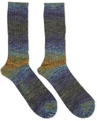 Anonymous Ism - Go Hemp Splash Blue Yellow/green Socks - Blue Men's Stockings In Blue - Lyst