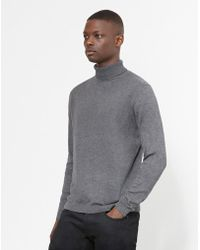 The Idle Man - Turtle Neck Jumper Grey - Lyst
