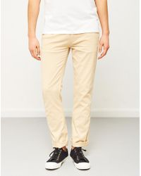 The Idle Man - Slim Fit Chino Stone - Lyst