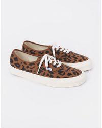 2ad69a9641 Lyst - Vans Leopard Print Vault Ua Og Trainers in Brown for Men