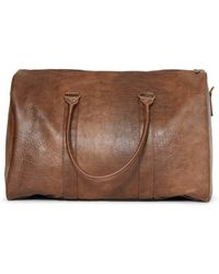 The Idle Man - Leather Look Overnight Bag Tan - Lyst