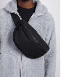 The Idle Man - Oversized Waist Bag Black - Lyst