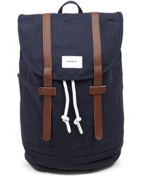 Sandqvist - Stig Large Backpack Blue - Navy - Lyst